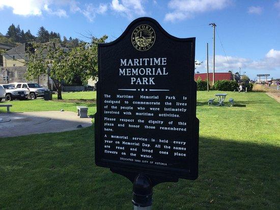 Maritime Memorial Park (sign)
