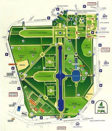 Parc de Sceaux: plan