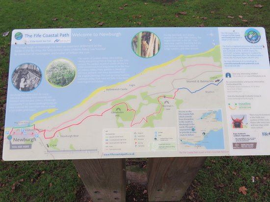 Fife, UK: Map of the coastal Path