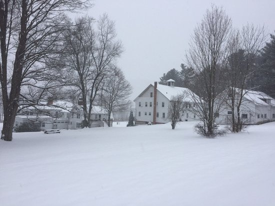 Blackberry River Inn: The Inn including the Carriage House in the snow Dec 2016