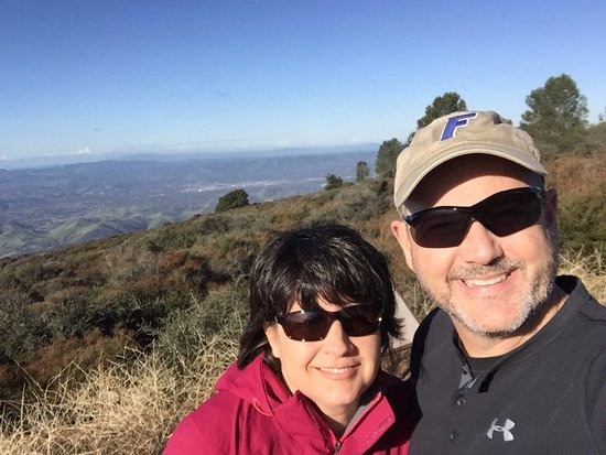 Clayton, CA: View of the bay area from Mount Diablo