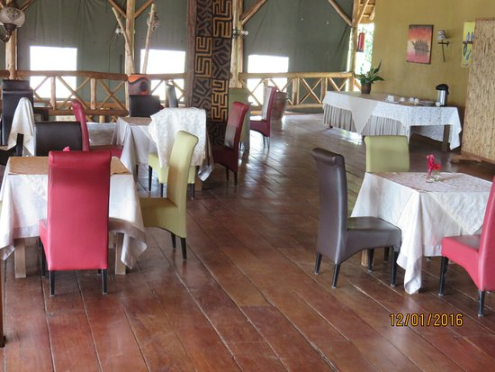 dining area in the main lodge
