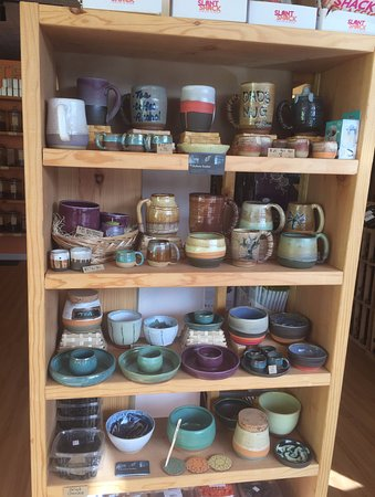 Belmont, MA: Beautiful pottery handmade by one of the store clerks