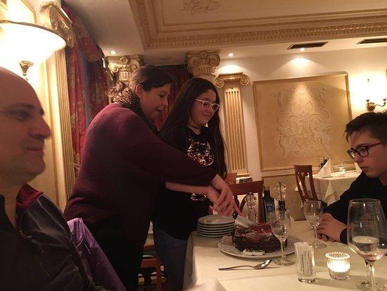 Wir haben den Geburtstag von meiner Tochter im Restaurant Da Leone gefeiert, das Essen, Ambiente