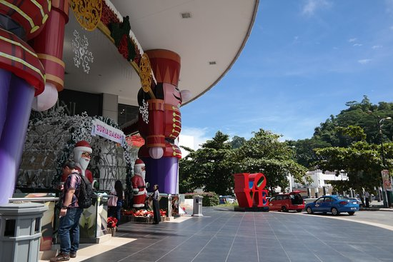 The Glass Bar and Grill: The entrance to Suria Sabah with 2016 christmas decorations.