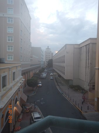 Sheraton Old San Juan Hotel: View down Calle Comercio from our room