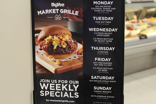 Daily Specials Sunday Brunch Hy Vee Market Cafe Best Restaurant Marshall Mn