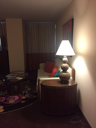Rio All-Suite Hotel & Casino: Couch and table area in the same room as the bed