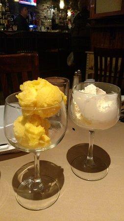 Scotia, NY: Mango Sorbet, Vanilla Ice Cream
