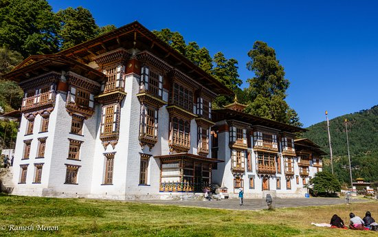 Bumthang, Bhutan: View of all 3 Temples