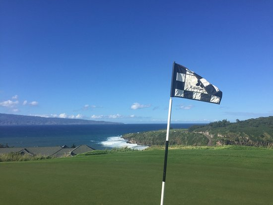 Kapalua Plantation Course: Ocean views on almost every hole!