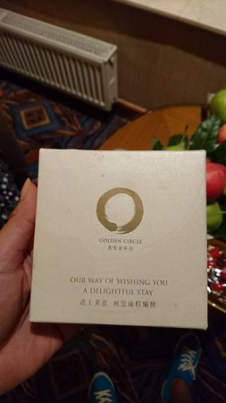 Baotou, China: 金環會 飯店送的巧克力