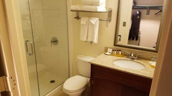 Kellogg Conference Hotel at Gallaudet University: Bathroom with walk-in shower, no tub King room 4200B