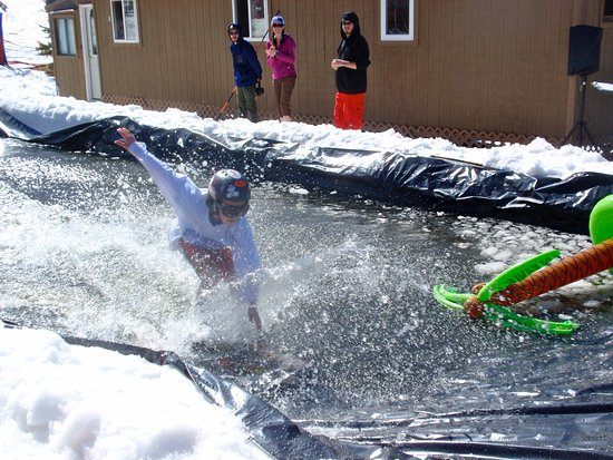 Bretton Woods, NH: Pond Skimming in the Spring