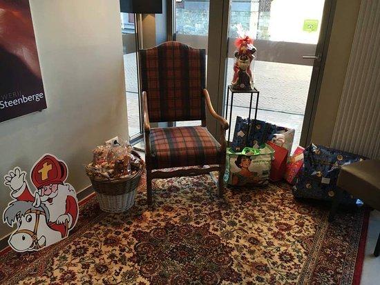 Evergem, เบลเยียม: De sint op bezoek