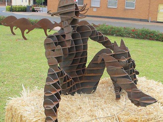 Dogman and Rabbitgirl Pyramid Sculpture