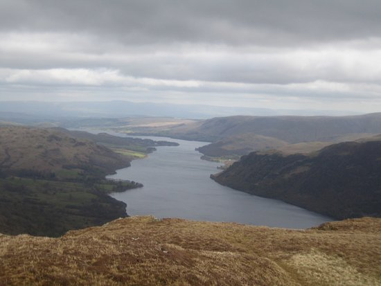 Glenridding, UK: View of Ullswater from Sheffield Pike