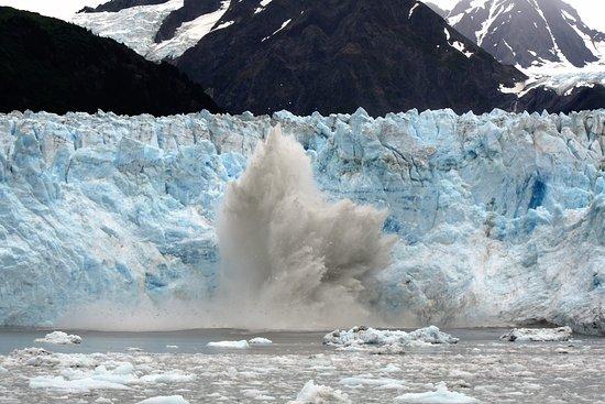 Valdez, AK: Carving of Meares glacier