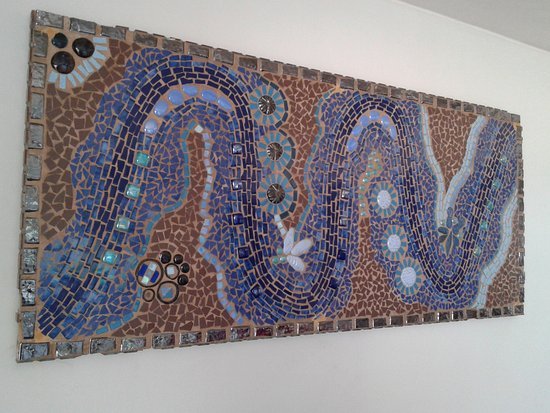 St. Michael's on Sea, South Africa: Arty Mosaic on Sitting room wall