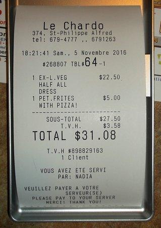 Alfred, Canada: $31.08 Nadia