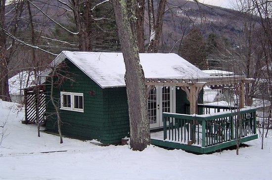 Woodstock, Nueva Hampshire: The bungalow in the winter