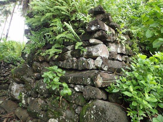 Kosrae, Micronesia: レル遺跡の石組み