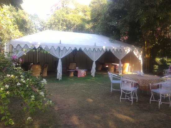 Hotel Anuraag Villa: Dining Tent view in Day