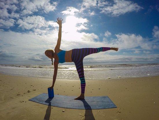 Beach Yoga on Matagorda Beach