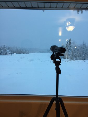 Glennallen, AK: Photos of the B&an in the middle of a winter snow storm it was a cozy respite.