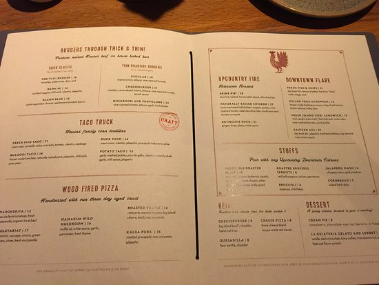 Moku Kitchen Menu moku kitchen menu - picture of moku kitchen, honolulu - tripadvisor
