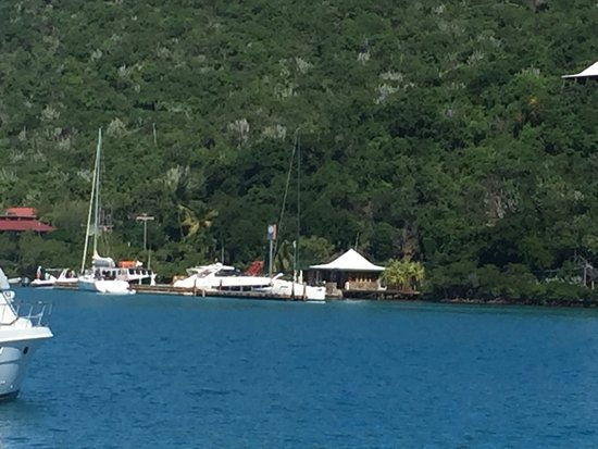 North Sound, Virgin Gorda: View from our boat.