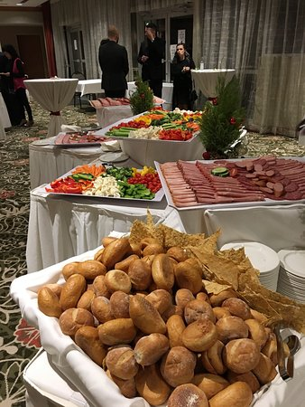 hilton vancouver metrotown christmas dinner party buffet