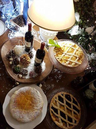 Belvedere : parte del tavolo dei dolci