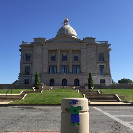 Arkansas State Capitol: Made the trip here with Flat Stanley!