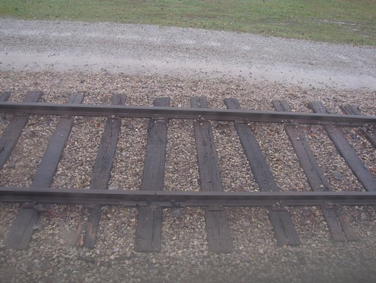 Nelsonville, OH: The track bed at the end of the line.