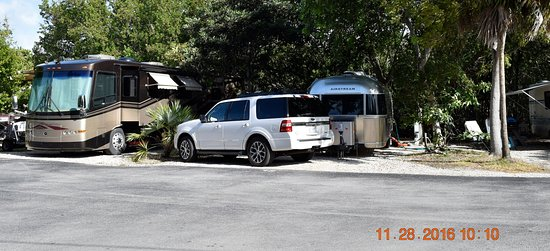 John Pennekamp Coral Reef State Park Campgrounds: Some camp spots are a little tight but completely adequate