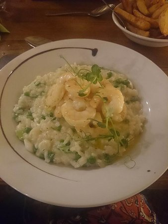 Great Broughton, UK: Garlic King Prawn Risotto