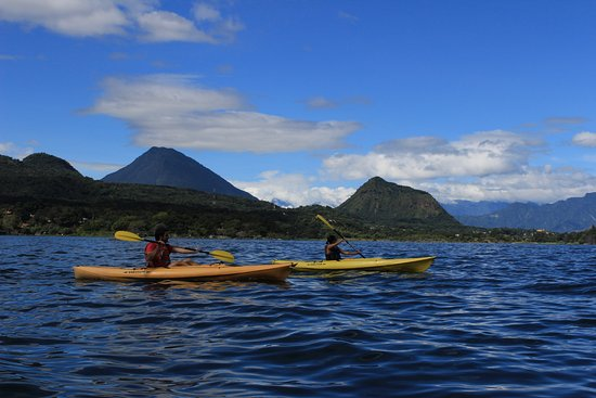 San Lucas Toliman, Guatemala: Using the kayaks - free for guests