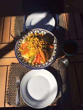 Friday couscous for two at Riad Anata