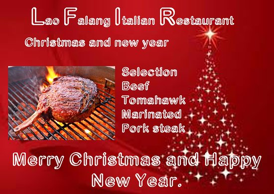 lao falang restaurant we wish a merry christmas and happy new year 2017 at all