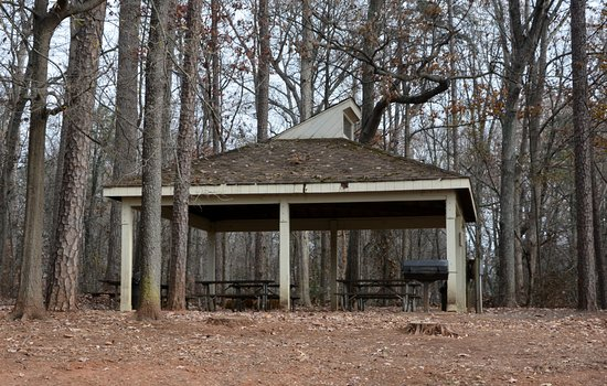 Huntersville, Carolina do Norte: Covered Picnic Tables with Grill