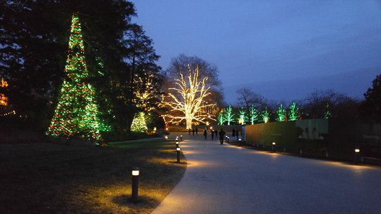 longwood gardens christmas lights adorn the entire property
