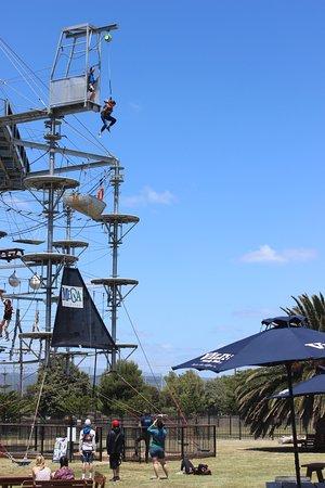 West Beach, Australia: Cliff jump