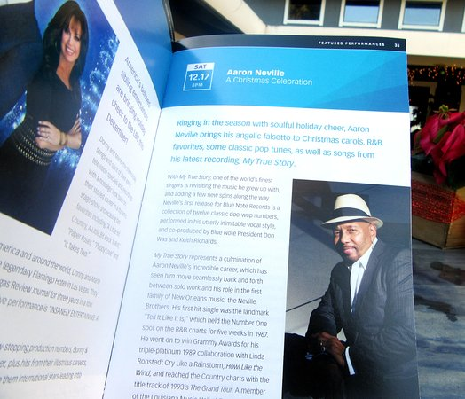 program aaron neville concert luther burbank center for the arts dec 2016