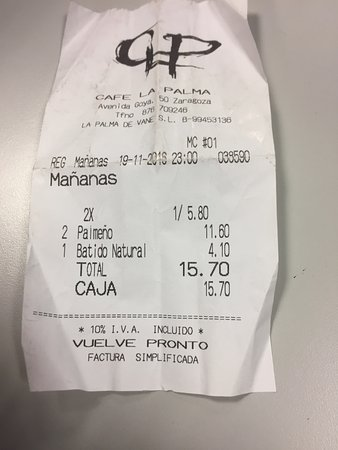 imagen Cafe la Palma en Zaragoza