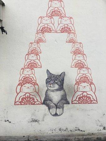 street art in george town street art cat near chew jetty goerge town penang