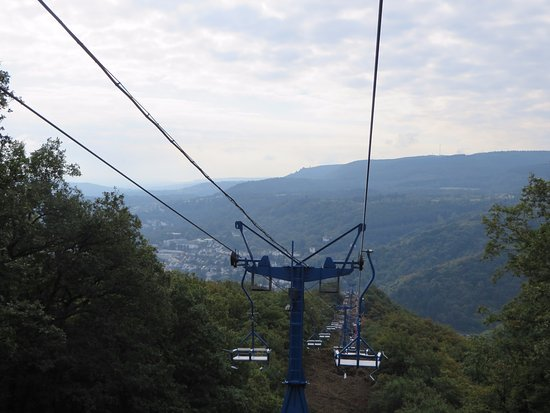 Sesselbahn in Boppard: Chairlift Down