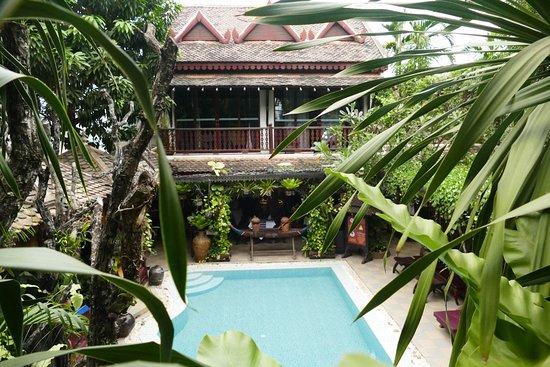 HanumanAlaya Villa: Pool view