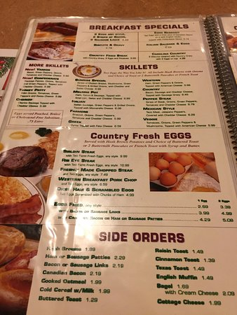Sunrise Restaurant Whiting Indiana Menu