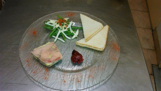 Les Alizés : Foie gras maison et sa salade de haricots et pomme fruit